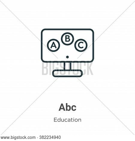 Abc icon isolated on white background from online learning collection. Abc icon trendy and modern Ab