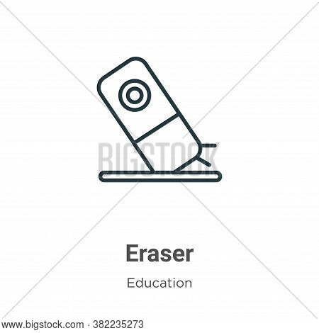 Eraser Icon From Education Collection Isolated On White Background.