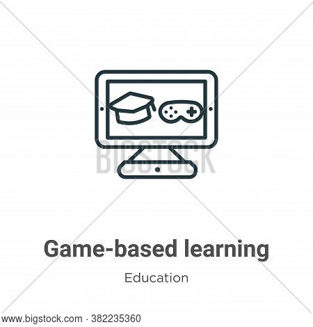 Game-based learning icon isolated on white background from education collection. Game-based learning