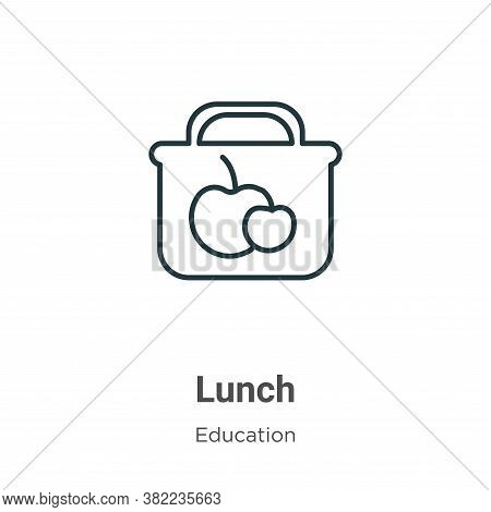 Lunch icon isolated on white background from education collection. Lunch icon trendy and modern Lunc