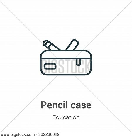 Pencil case icon isolated on white background from education collection. Pencil case icon trendy and