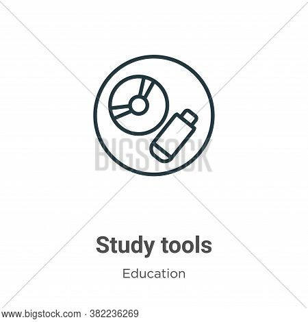 Study tools icon isolated on white background from online learning collection. Study tools icon tren