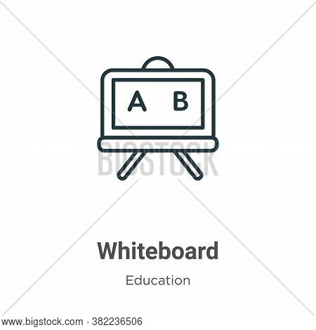 Whiteboard icon isolated on white background from online learning collection. Whiteboard icon trendy