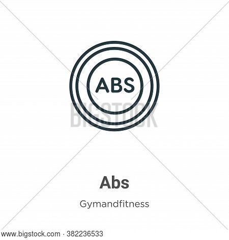 Abs icon isolated on white background from gym and fitness collection. Abs icon trendy and modern Ab