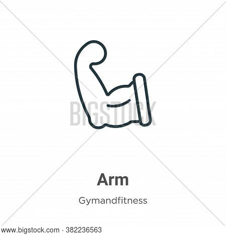 Arm icon isolated on white background from gym and fitness collection. Arm icon trendy and modern Ar