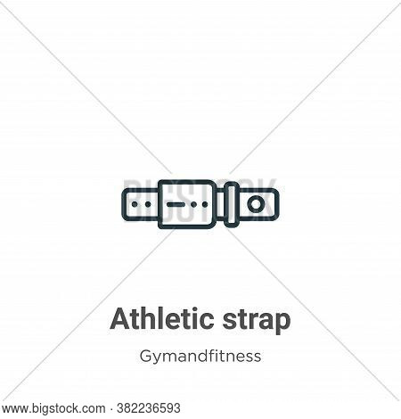 Athletic strap icon isolated on white background from gym and fitness collection. Athletic strap ico