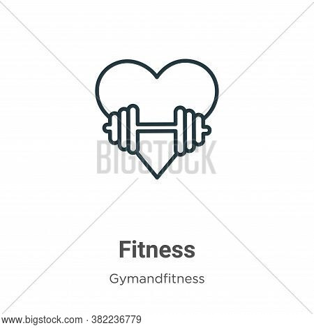 Fitness icon isolated on white background from gym and fitness collection. Fitness icon trendy and m
