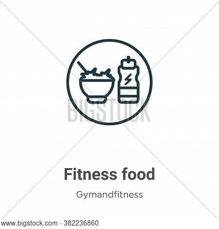 Fitness food icon isolated on white background from gym and fitness collection. Fitness food icon tr