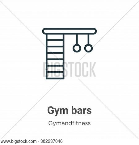 Gym bars icon isolated on white background from gym and fitness collection. Gym bars icon trendy and