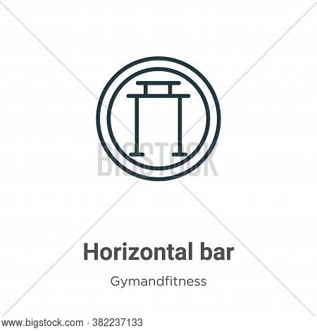 Horizontal bar icon isolated on white background from gym and fitness collection. Horizontal bar ico