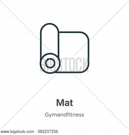 Mat icon isolated on white background from gym and fitness collection. Mat icon trendy and modern Ma