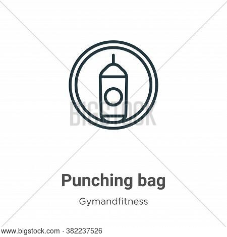 Punching bag icon isolated on white background from gymandfitness collection. Punching bag icon tren