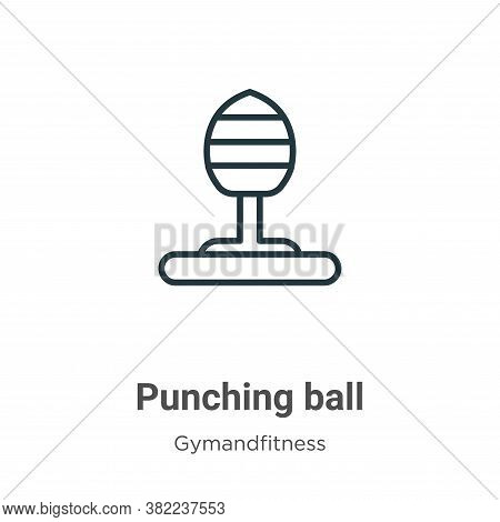Punching ball icon isolated on white background from gymandfitness collection. Punching ball icon tr
