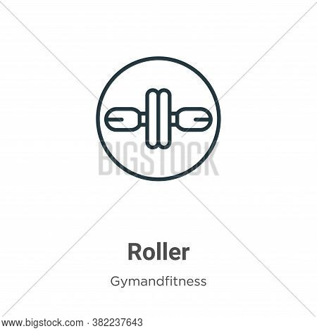 Roller icon isolated on white background from gymandfitness collection. Roller icon trendy and moder