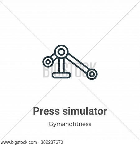 Press simulator icon isolated on white background from gymandfitness collection. Press simulator ico