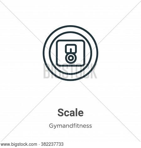 Scale icon isolated on white background from gymandfitness collection. Scale icon trendy and modern