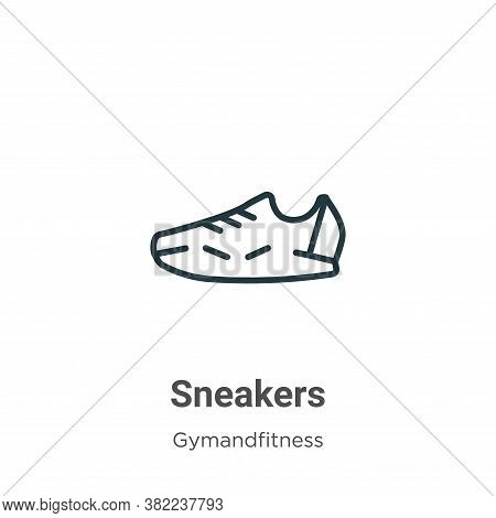 Sneakers icon isolated on white background from gymandfitness collection. Sneakers icon trendy and m