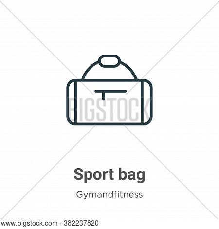 Sport bag icon isolated on white background from gymandfitness collection. Sport bag icon trendy and