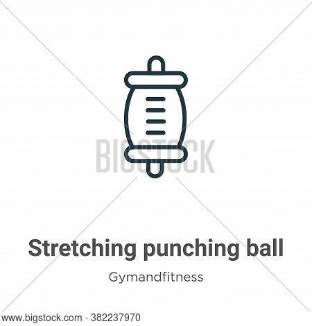 Stretching punching ball icon isolated on white background from gymandfitness collection. Stretching