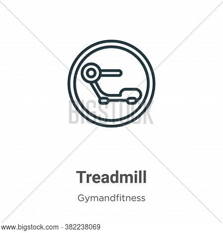 Treadmill icon isolated on white background from gymandfitness collection. Treadmill icon trendy and