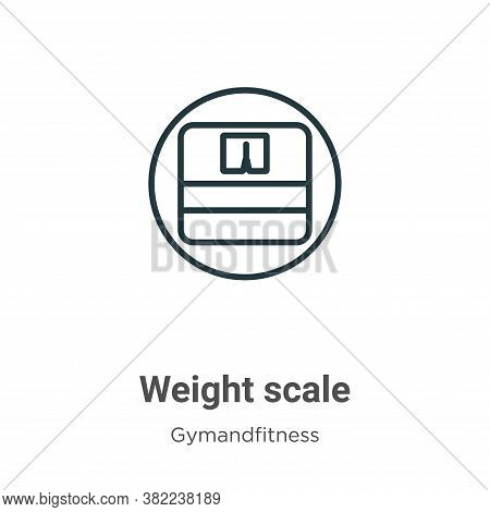 Weight scale icon isolated on white background from gymandfitness collection. Weight scale icon tren