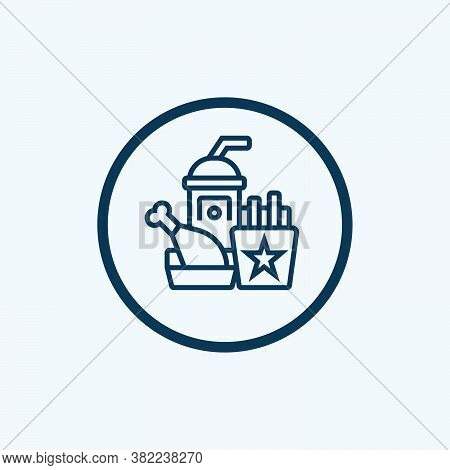 Fast Food Icon Isolated On White Background From Mall Collection. Fast Food Icon Trendy And Modern F