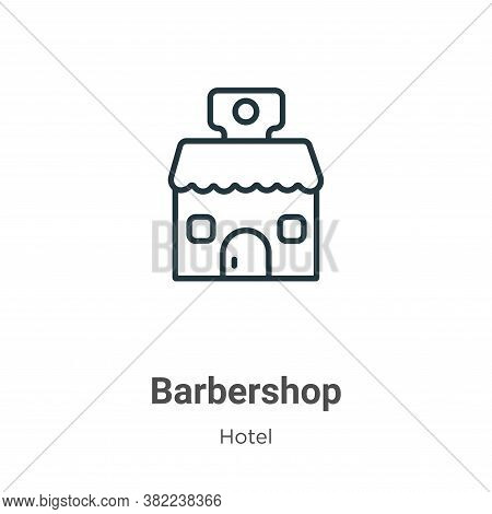 Barbershop icon isolated on white background from hotel collection. Barbershop icon trendy and moder