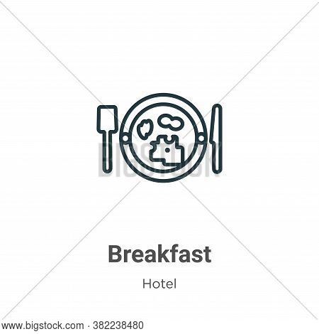 Breakfast icon isolated on white background from restaurant collection. Breakfast icon trendy and mo