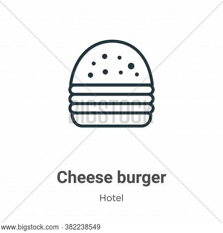 Cheese burger icon isolated on white background from restaurant collection. Cheese burger icon trend