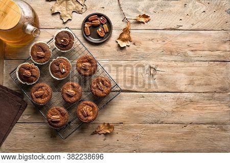 Autumn Pumpkin Muffins For Breakfast
