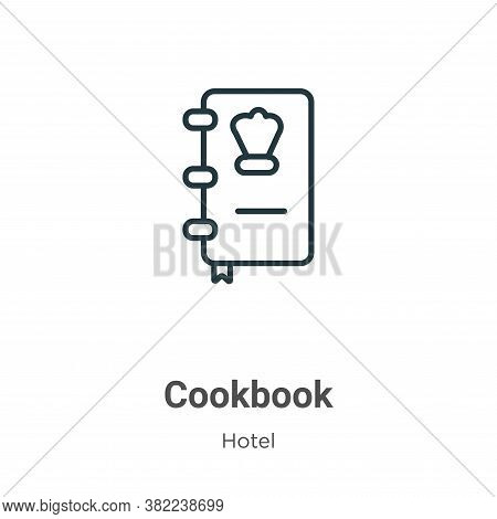 Cookbook icon isolated on white background from restaurant collection. Cookbook icon trendy and mode