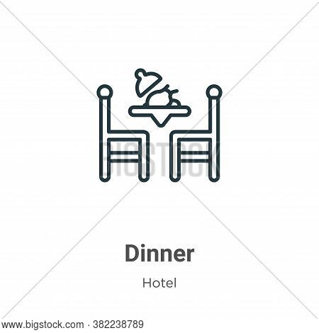 Dinner icon isolated on white background from restaurant collection. Dinner icon trendy and modern D