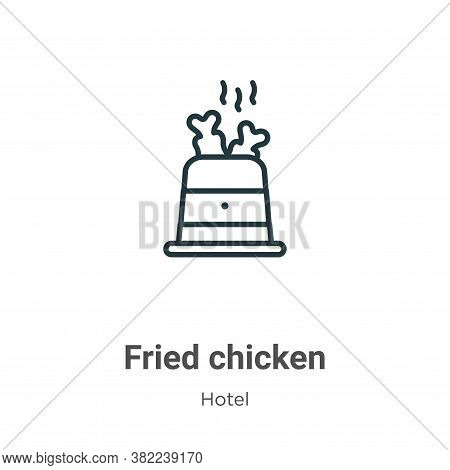 Fried chicken icon isolated on white background from restaurant collection. Fried chicken icon trend