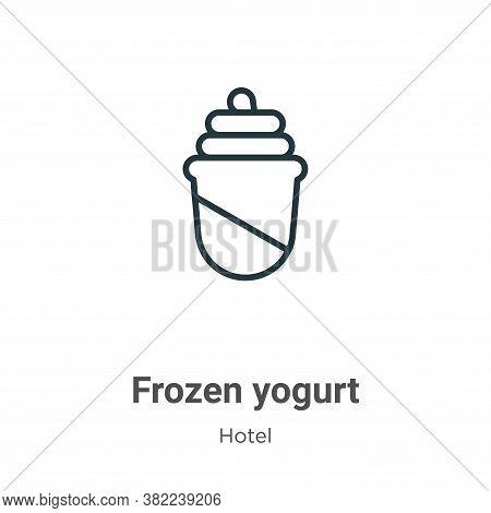Frozen yogurt icon isolated on white background from restaurant collection. Frozen yogurt icon trend