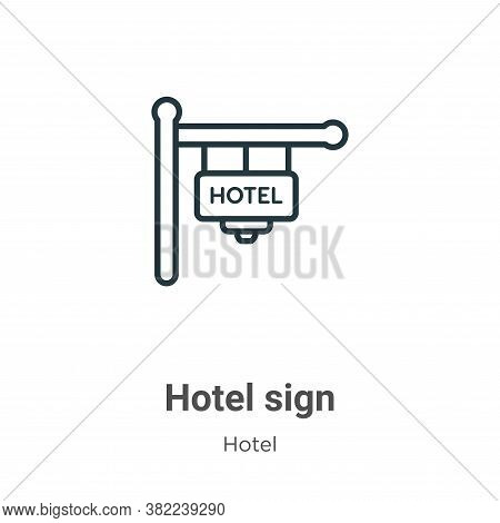 Hotel sign icon isolated on white background from hotel collection. Hotel sign icon trendy and moder