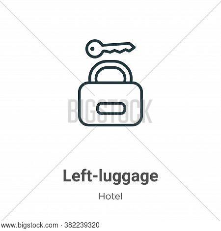 Left-luggage icon isolated on white background from hotel collection. Left-luggage icon trendy and m