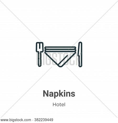 Napkins icon isolated on white background from restaurant collection. Napkins icon trendy and modern