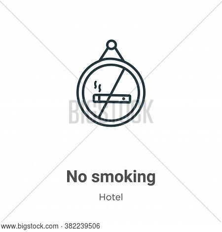 No smoking icon isolated on white background from hotel collection. No smoking icon trendy and moder