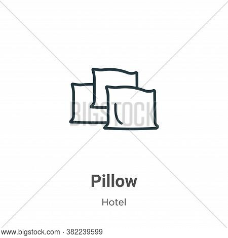 Pillow icon isolated on white background from hotel collection. Pillow icon trendy and modern Pillow