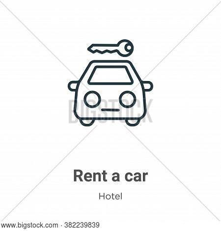 Rent a car icon isolated on white background from hotel collection. Rent a car icon trendy and moder