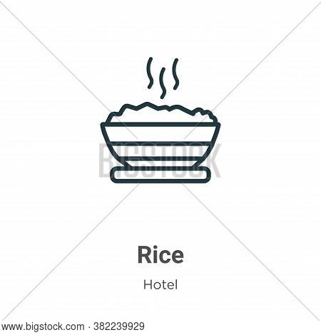 Rice icon isolated on white background from restaurant collection. Rice icon trendy and modern Rice