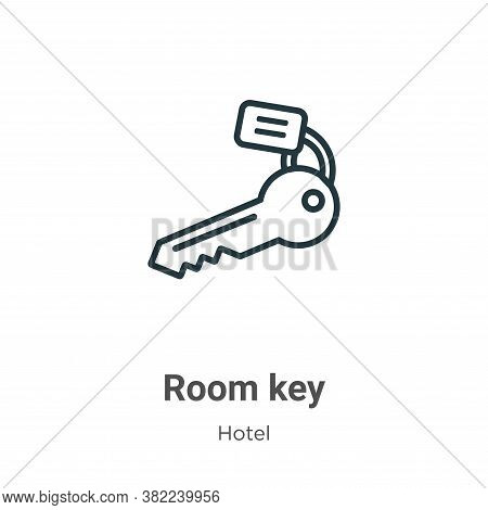 Room key icon isolated on white background from hotel collection. Room key icon trendy and modern Ro