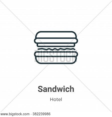 Sandwich icon isolated on white background from restaurant collection. Sandwich icon trendy and mode