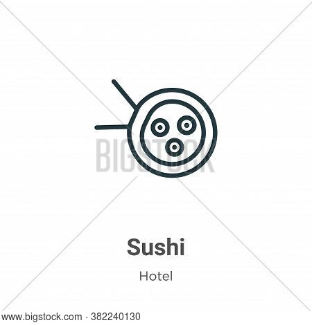 Sushi icon isolated on white background from restaurant collection. Sushi icon trendy and modern Sus
