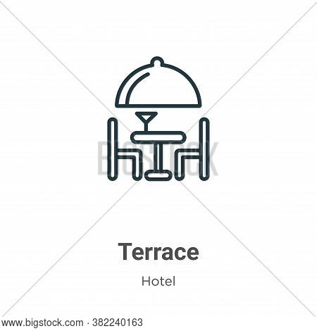 Terrace icon isolated on white background from restaurant collection. Terrace icon trendy and modern