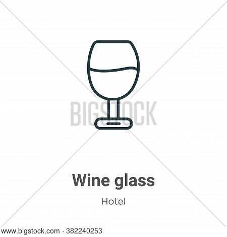 Wine glass icon isolated on white background from restaurant collection. Wine glass icon trendy and