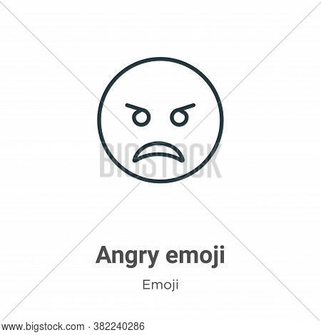 Angry emoji icon isolated on white background from emoji collection. Angry emoji icon trendy and mod