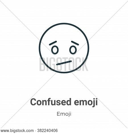 Confused emoji icon isolated on white background from emoji collection. Confused emoji icon trendy a