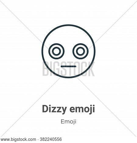 Dizzy emoji icon isolated on white background from emoji collection. Dizzy emoji icon trendy and mod