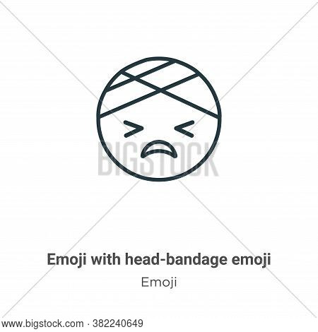 Emoji With Head-bandage Emoji Icon From Emoji Collection Isolated On White Background.
